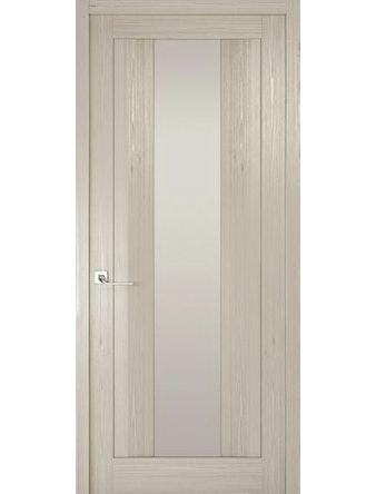Дверное полотно с белым стеклом Рива Модерно-2, дуб жемчужный, 600 х 2000 мм