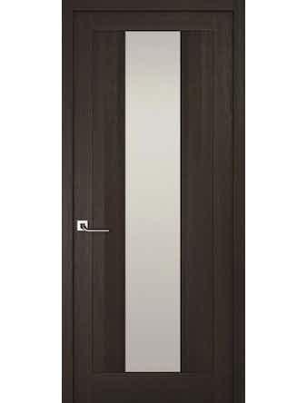 Дверное полотно с белым стеклом Рива Модерно-2, венге, 400 х 2000 мм