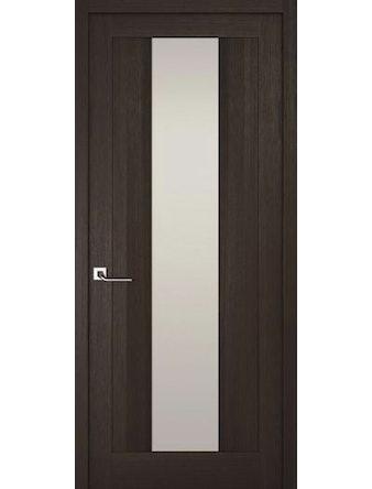 Дверное полотно с белым стеклом Рива Модерно-2, венге, 600 х 2000 мм