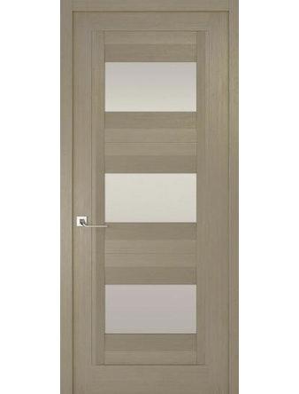 Дверное полотно с белым стеклом Рива Модерно-3, дуб натуральный, 600 х 2000 мм