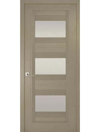 Дверное полотно с белым стеклом Рива Модерно-3, дуб натуральный, 700 х 2000 мм