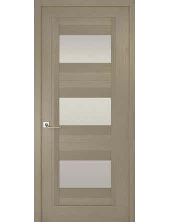 Дверное полотно с белым стеклом Рива Модерно-3, дуб натуральный, 900 х 2000 мм