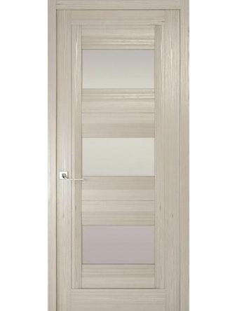 Дверное полотно с белым стеклом Рива Модерно-3, дуб жемчужный, 400 х 2000 мм