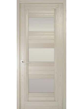 Дверное полотно с белым стеклом Рива Модерно-3, дуб жемчужный, 600 х 2000 мм