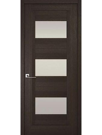 Дверное полотно с белым стеклом Рива Модерно-3, венге, 600 х 2000 мм