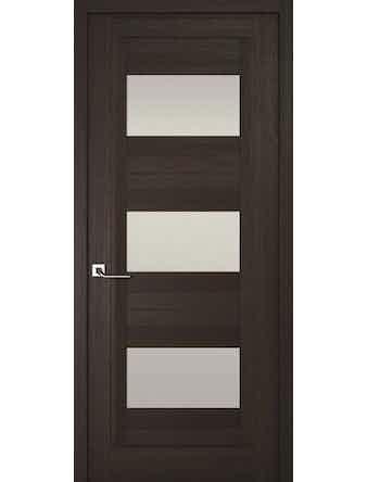 Дверное полотно с белым стеклом Рива Модерно-3, венге, 700 х 2000 мм