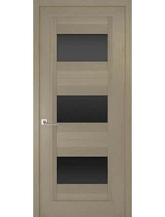 Дверное полотно с черным стеклом Рива Модерно-3, дуб натуральный, 900 х 2000 мм