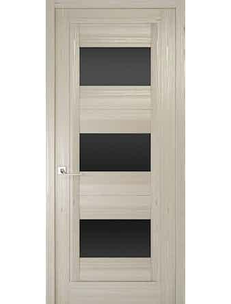 Дверное полотно с черным стеклом Рива Модерно-3, дуб жемчужный, 900 х 2000 мм