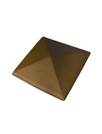 Колпак для забора С42 коричневый 425x425
