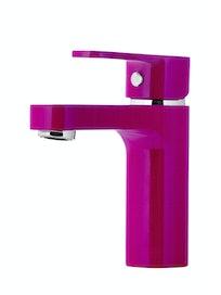 Смеситель для раковины Cello Neo, хром/фиолетовый