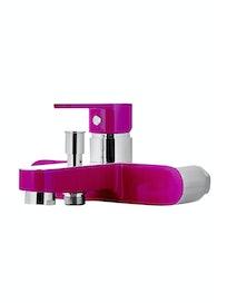 Смеситель для ванной Cello Neo, хром/фиолетовый