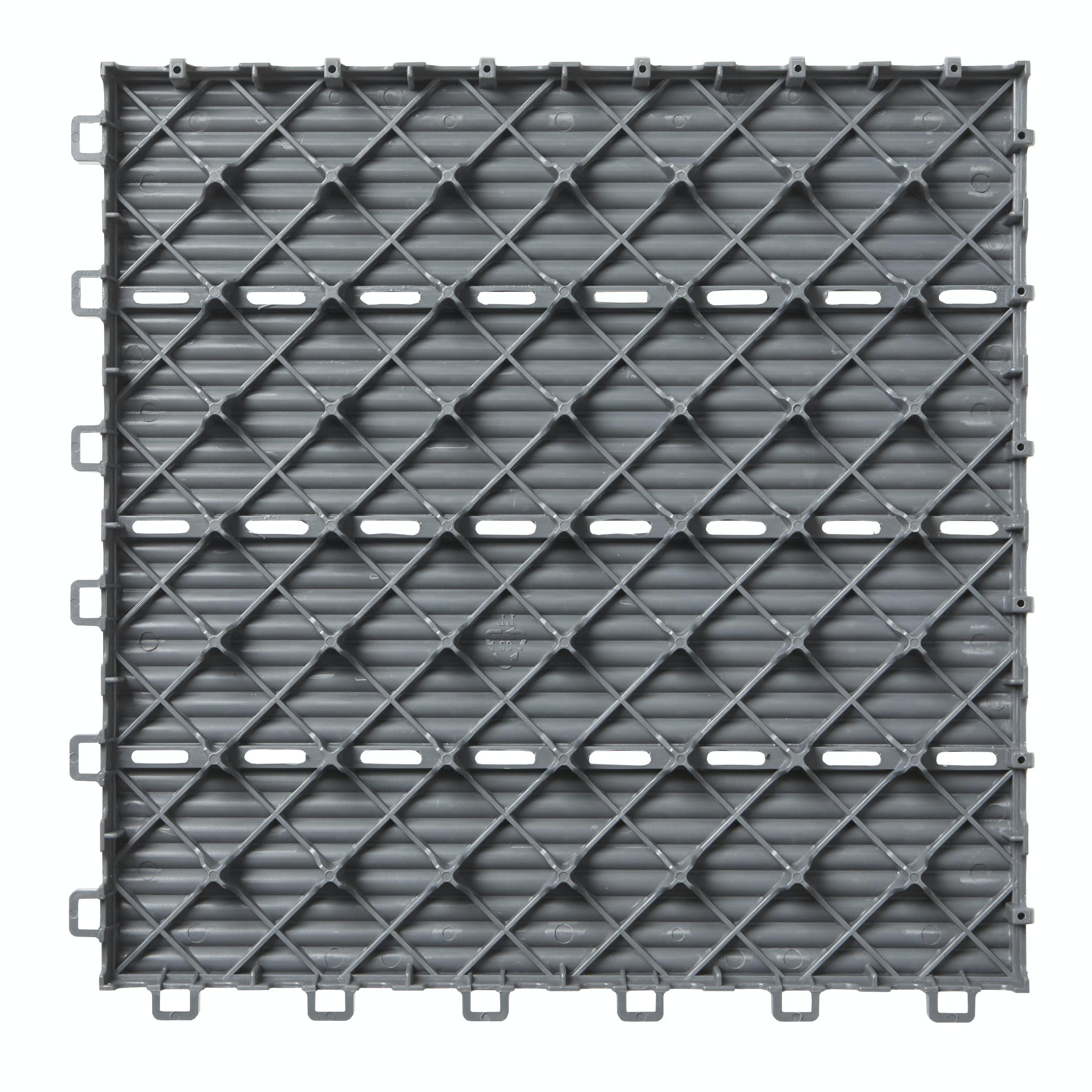 Trallruta Goodiy FSC 30x30 Plast Grå 0,36m²
