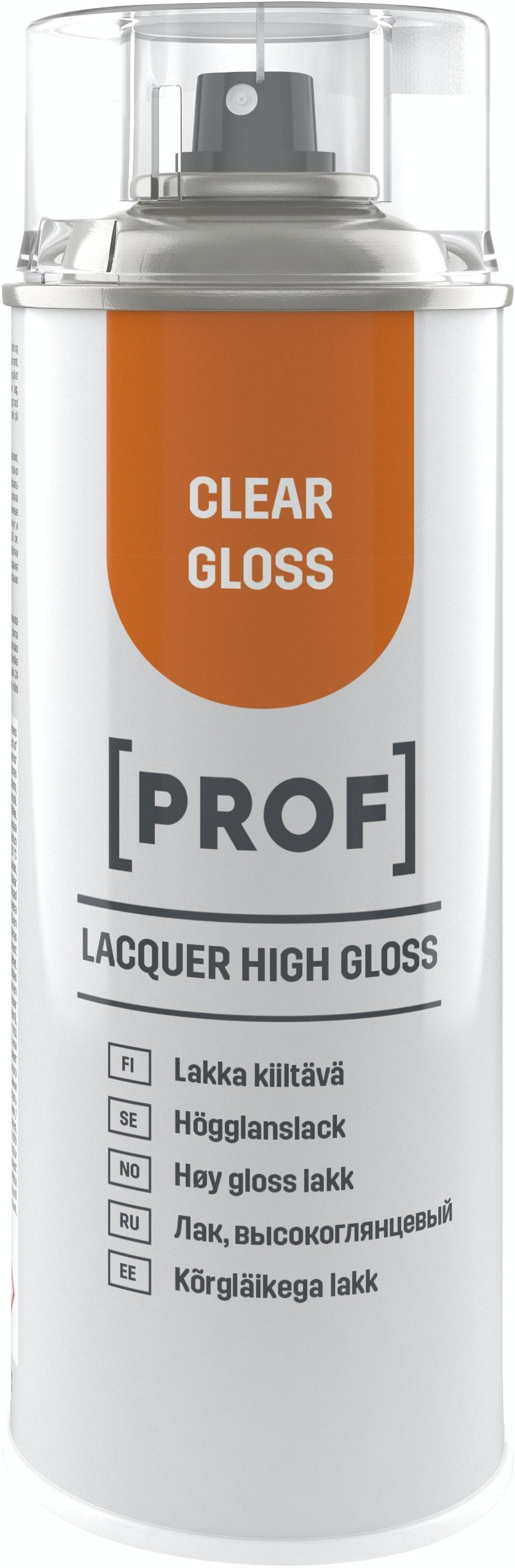 Sprayfärg Prof Professional Högblank Klar 400ml