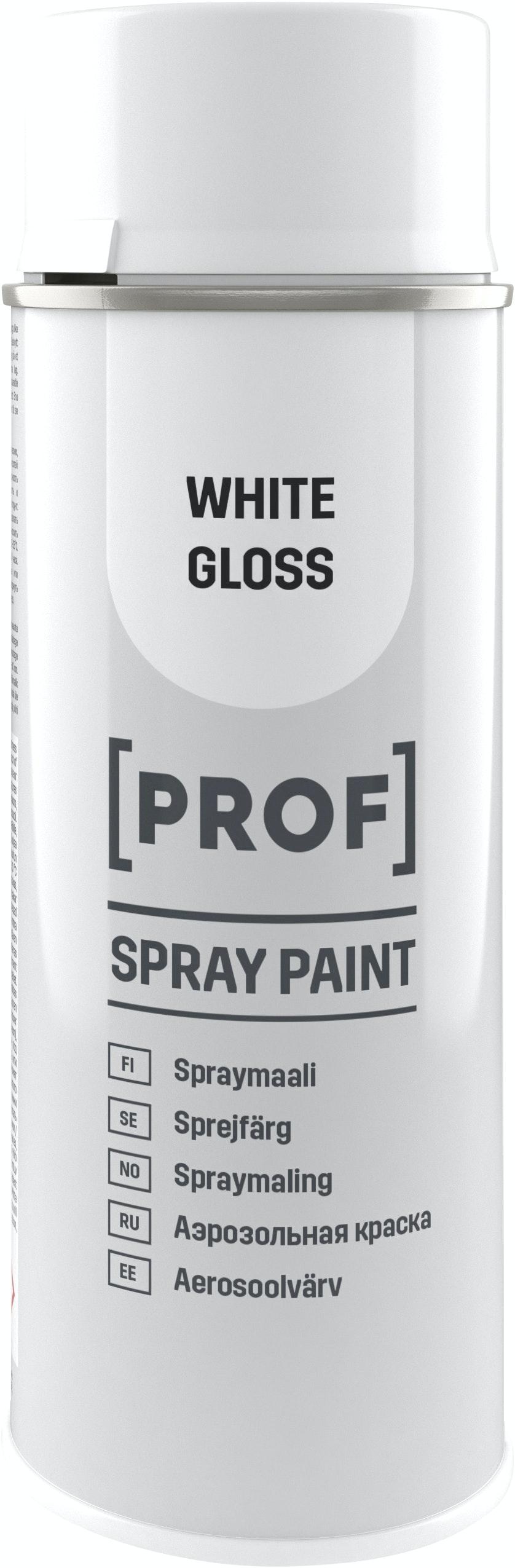 Sprayfärg Prof Professional Högblank Vit 400ml