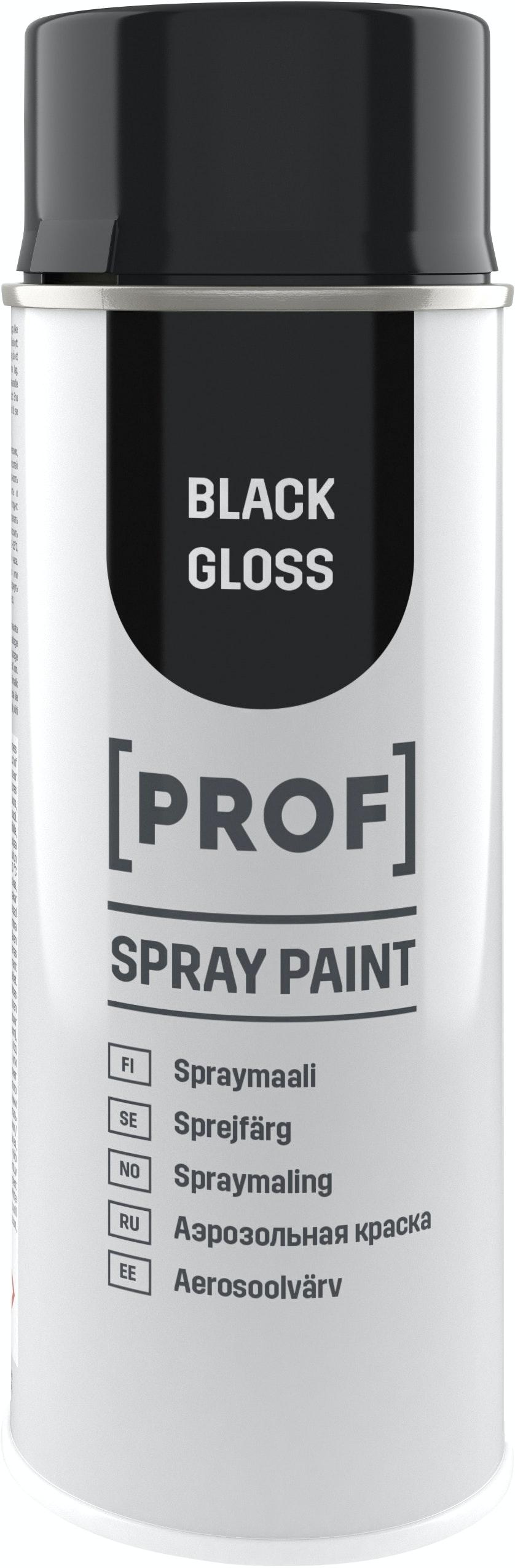 Sprayfärg Prof Professional Blank Svart 400ml