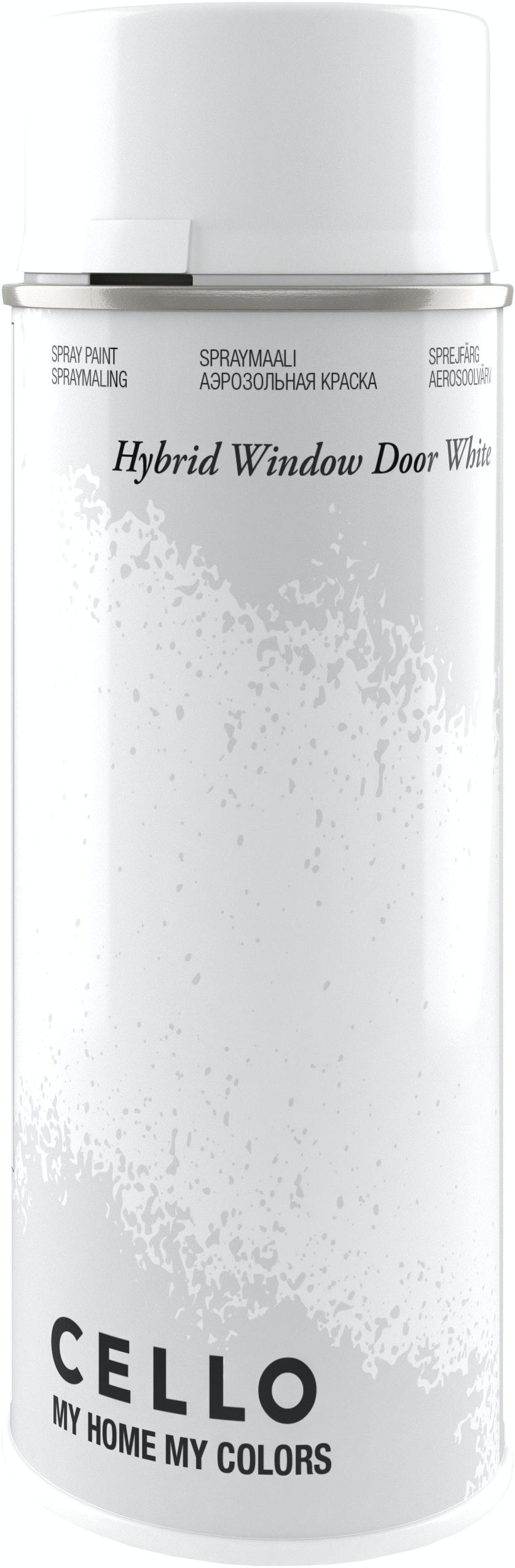 sprayfärg vit högblank