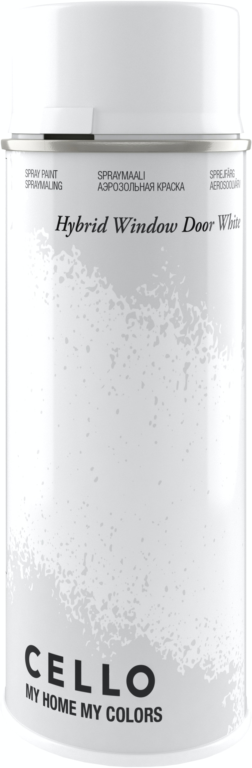 Sprayfärg Cello Hybrid Sidenmatt Vit 400ml