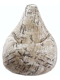 Чехол для кресла-мешка Груша XL Кросс, 120 х 85 см, бежевый