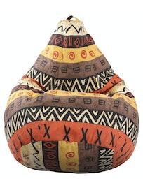 Чехол для кресла-мешка Груша 2XL, ткань жаккард, расцветка Африка, 130 х 100 см
