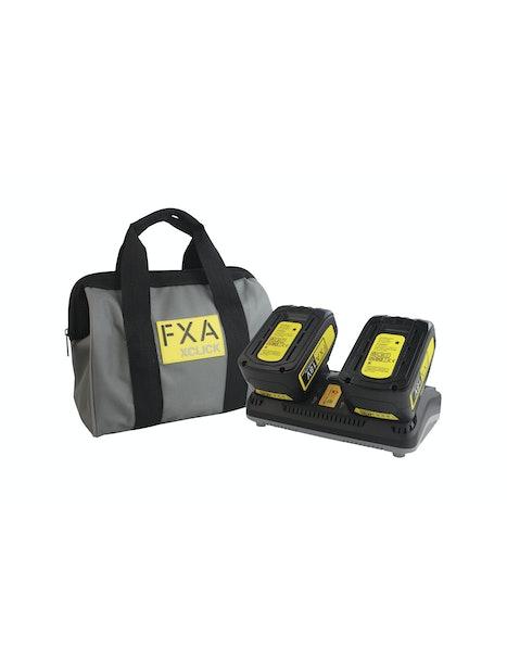 AKKU JA LATURI FXA XCLICK 18V POWERPACK 2X4,0AH