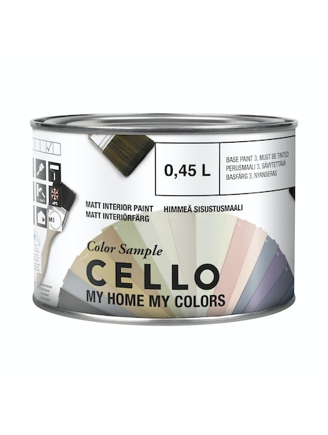 VÄRIMALLI CELLO COLOR SAMPLE T1418 0,45L