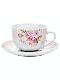 Чайная пара Mirabella Pink, 220 мл