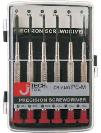 Отвертка набор мини из 6 шт PE-M