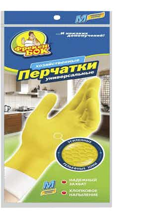 Перчатки универсальные для мытья посуды ФрекенБОК, размер S