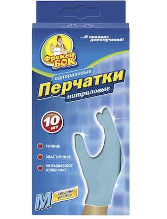Перчатки нитриловые ФрекенБОК, размер M, 10 шт.