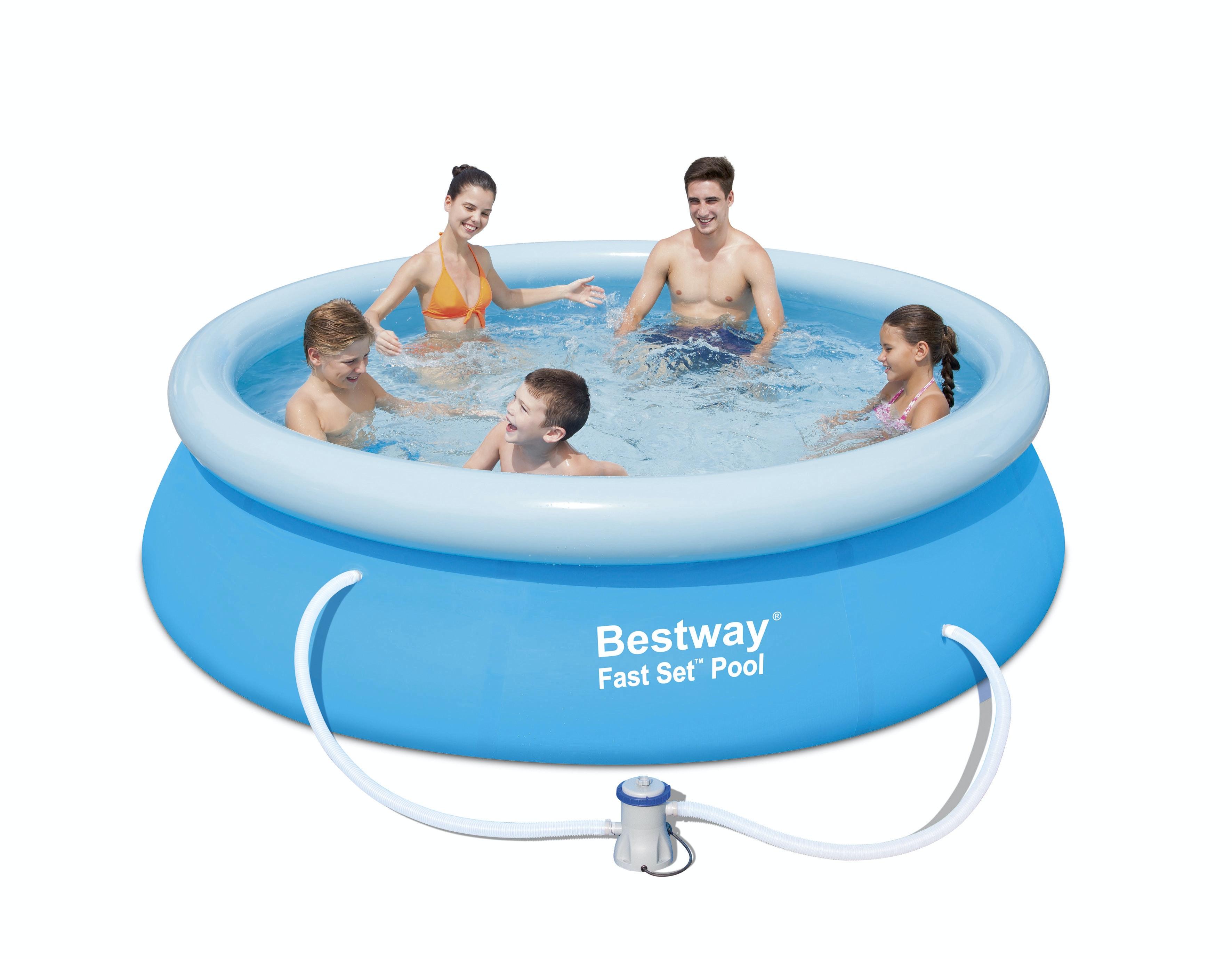 Pool Bestway Mjuk Fastset 3,05m Med  Pump Och Filter