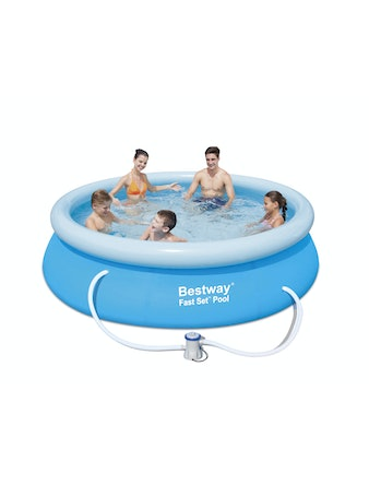 Pool Bestway Mjuk Fastset 3,05m Med Pump Och Filter