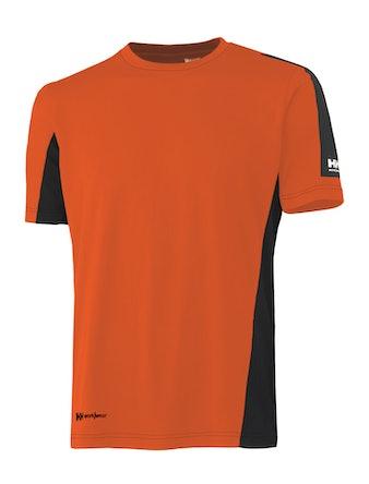 T-Shirt Helly Hansen Odense Funktion Orange/Svart L