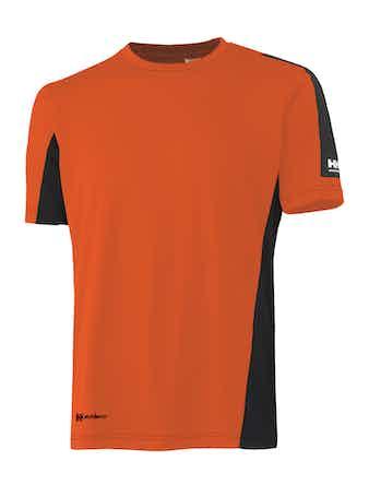 T-Shirt Helly Hansen Odense Funktion Orange Svart S
