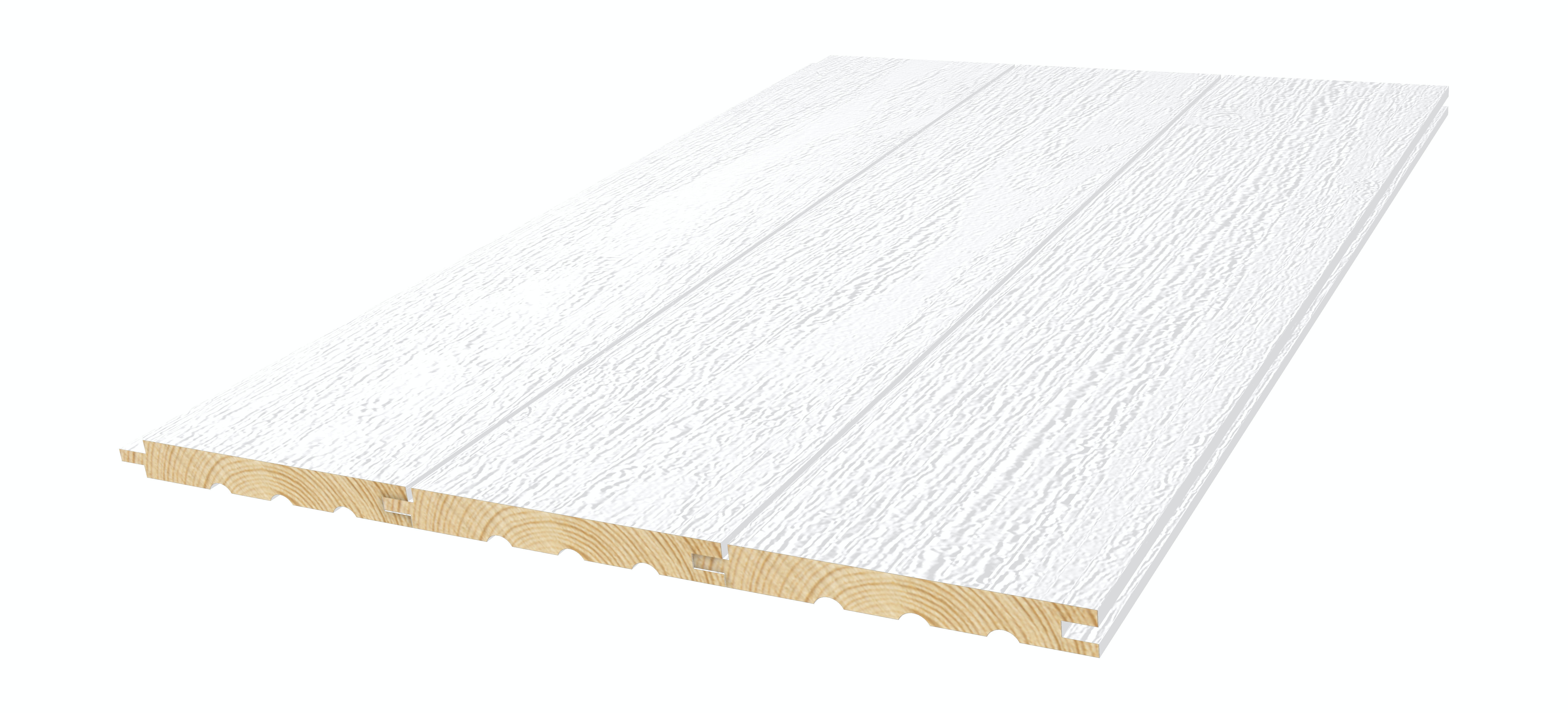 Interiörpanel Moelven Gran Trend Rough Vit 14x120