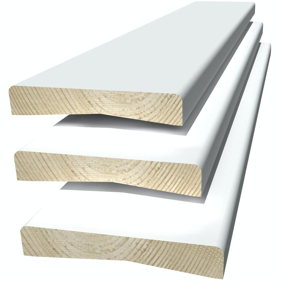 Foderset Moelven 12x56mm (2x220+1x110Cm) Vitmålad Furu 2,2m
