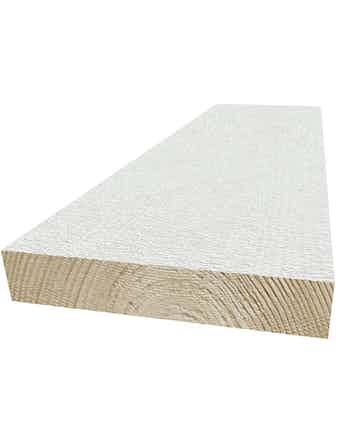 Ytterpanel 22x120mm grundmålad vit