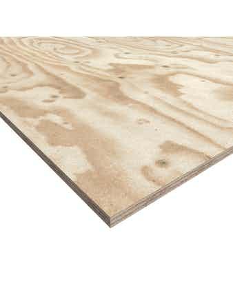 Plywood Furu 7x1200x2500mm Kvalitet Bb/X