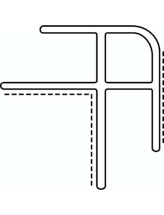 Hörnlist Utvändig Aluminium Våtrumsskiva 154513