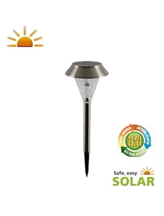 Solcellslampa Lux Volos Rostfri/Glas