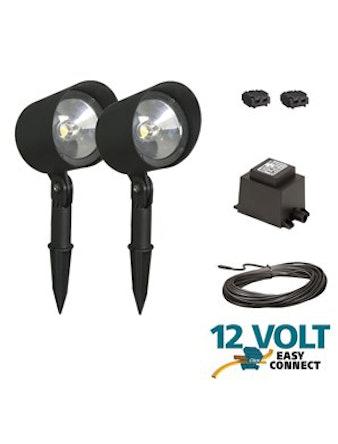 Spotlightset Lux Mallorca 2-Pak Svart