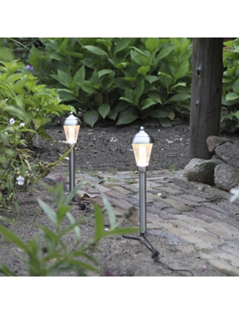 Trädgårdslampor Set Lux Nantes Rostfritt 3-Pack