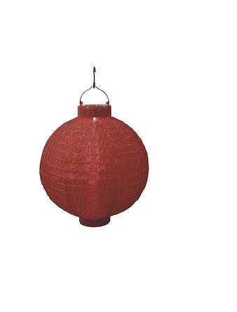 Kinasolcellslampa Röd 1 Varmvit Led Polyester