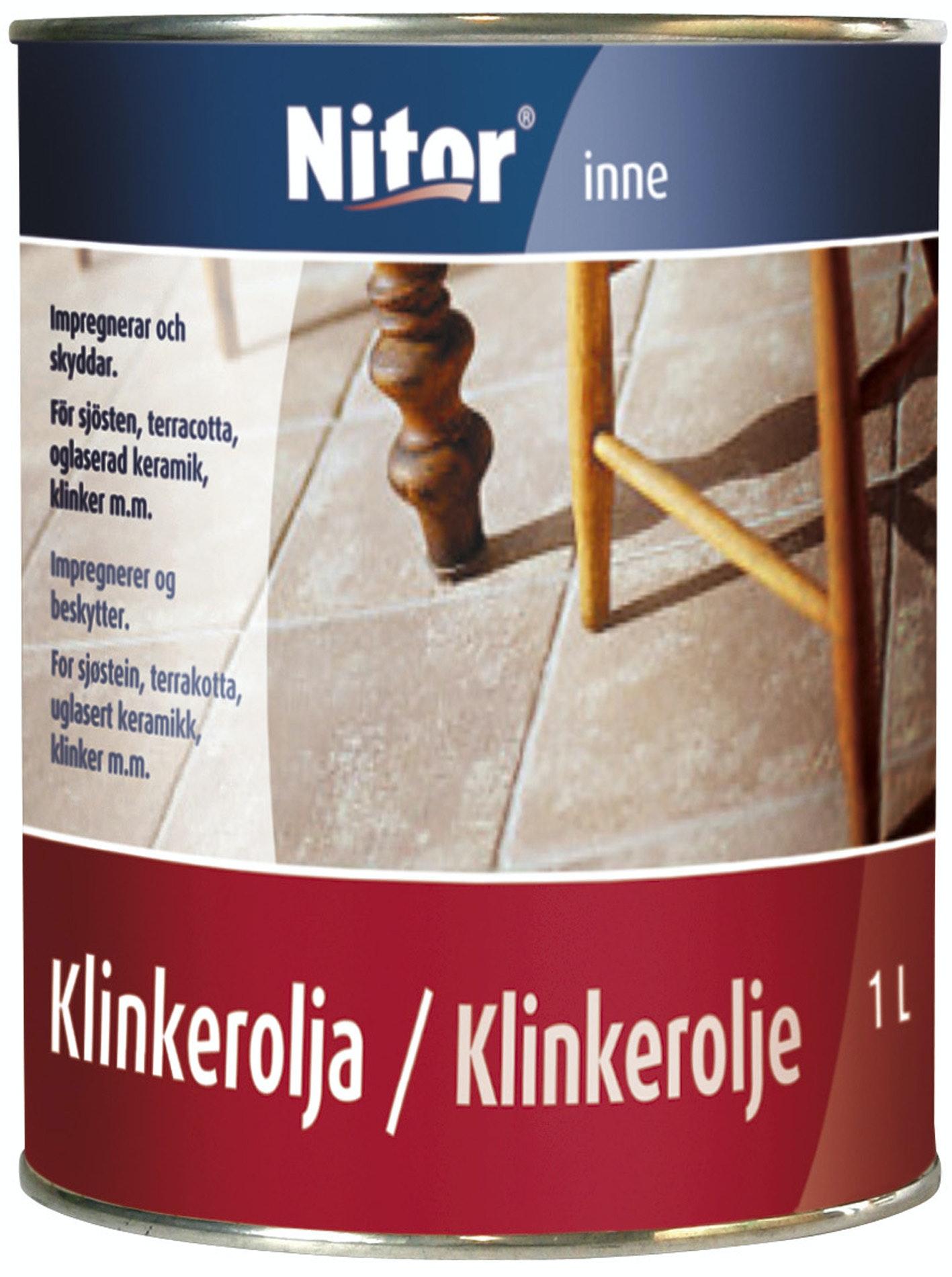Klinkerolja Nitor 1l