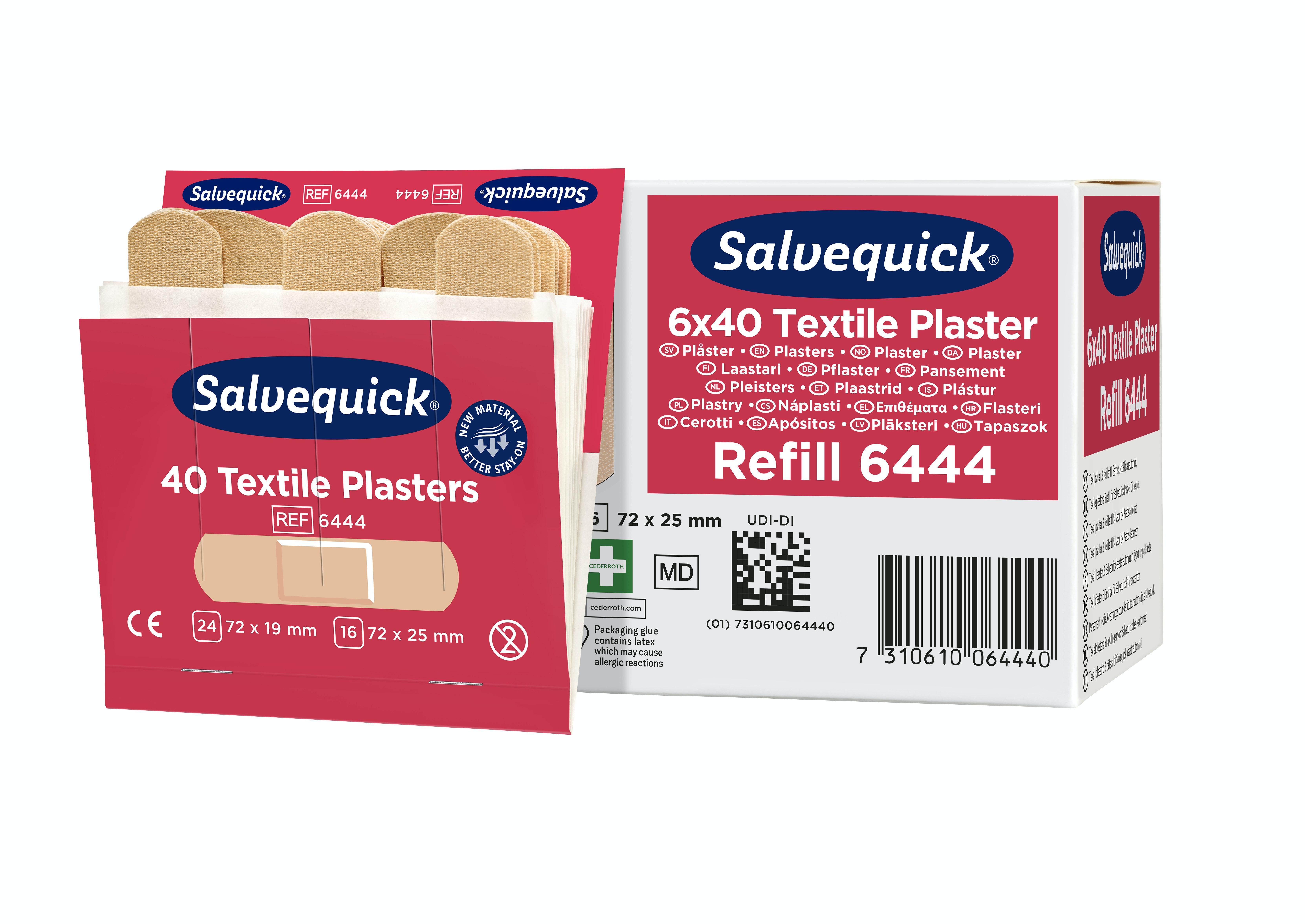 Textilplåster Refill Salvequick 40st