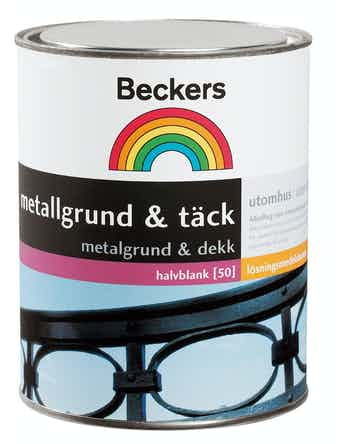 Metallgrund Beckers Täck Svart 0,5L