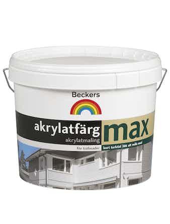 Akrylatfärg Beckers Max 10 Svart 3L