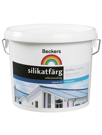 Silikatfärg Beckers Vit 2,7L