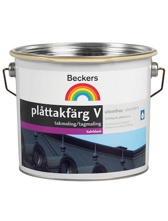 Plåttakfärg Beckers Vattenbaserad Ljusgrå 10L