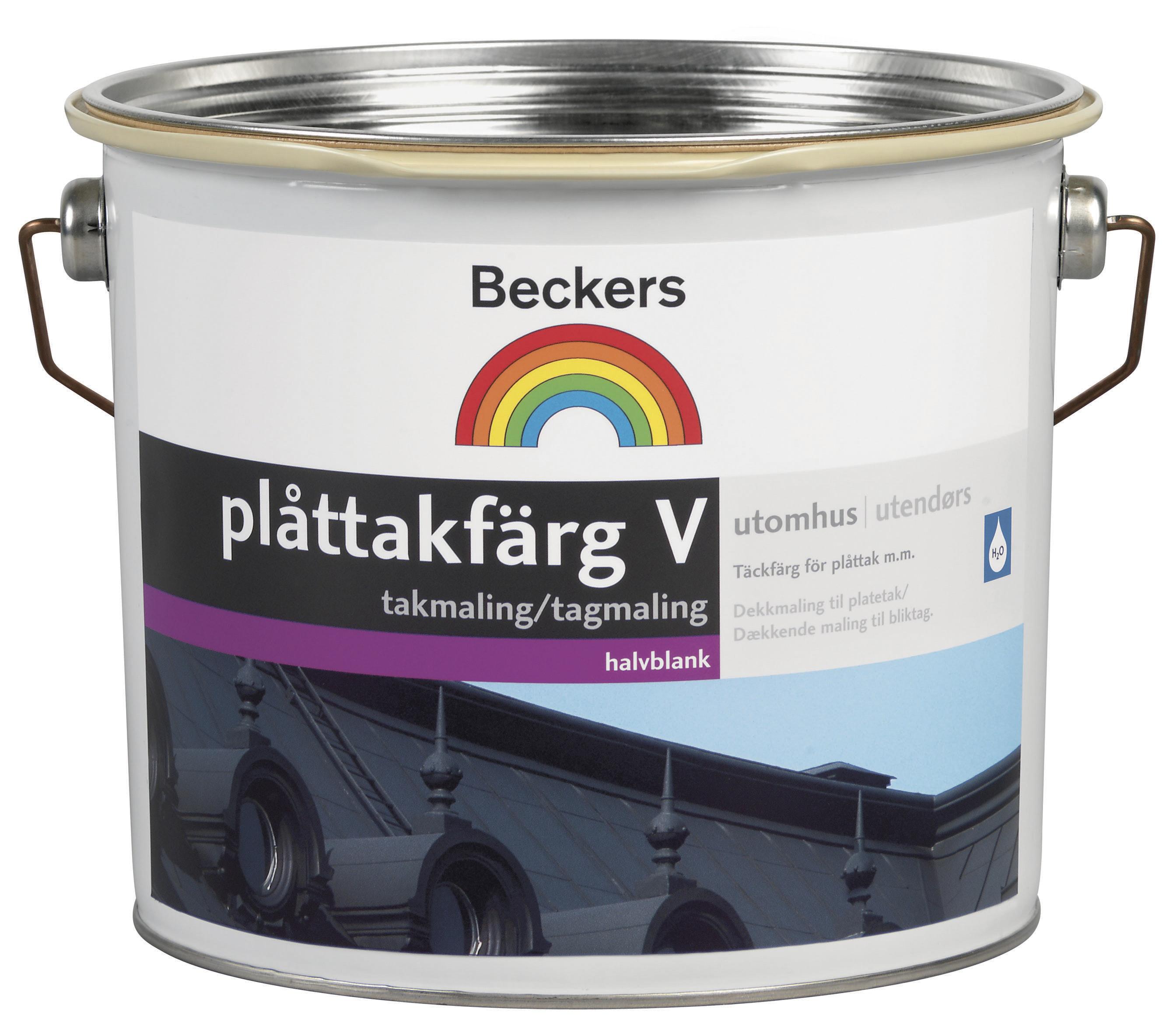 Plåttakfärg Beckers V Svart 3L