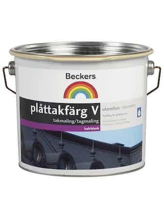 Plåttakfärg Beckers Vattenbaserad Svart 3L